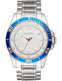 Reloj hombre Louis Villiers en acero blanco 45 mm lv1006