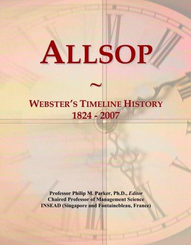 Allsop: Webster's Timeline History, 1824 - 2007