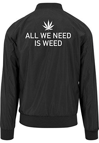 All We Need Is Weed Bomberjacke Black Certified Freak-S