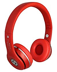 Signature Lenovo VIBE K4 Note VMB-4 Model Stereo Bass Bluetooth Headphone And Mp3 Card Support For Iphone/Smartphones (Red )