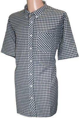 Der Mix Check Short Sleeve Shirts verfügbar in 6Designs SH090 Schwarz - Schwarz / Weiß