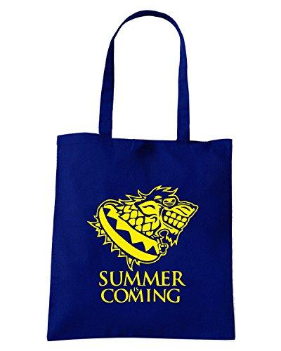 Cotton Island - Borsa Shopping FUN0141 06 06 2013 Summer Is Coming T SHIRT det2, Taglia Capacita 10 litri