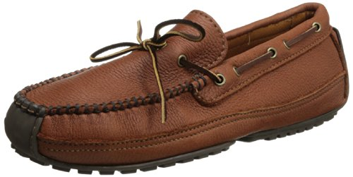 Minnetonka  Moosehide Weekend Moc, mocassins homme - Marron - Braun/CARMEL, 45 EU