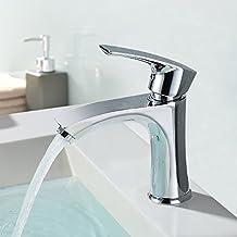 Homelody Chrom Wasserhahn Badezimmer Armaturen Waschtischarmatur Bad Mischbatterie Waschbecken Badarmatur