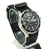 Orient Herren-Armbanduhr Analog Quarz Leder CEM65001BW-Nato - 3