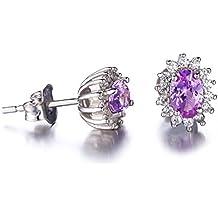 JewelryPalace Donna Gioiello Principessa Diana William Kate Middleton Orecchini a Perno Farfalla Tappi Argento Sterling 925