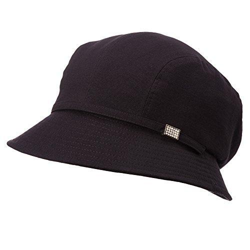 SIGGI Damen faltbarer Bucket Sonnenhut Sommerhut mit Kinnriemen UPF 50+ schwarz