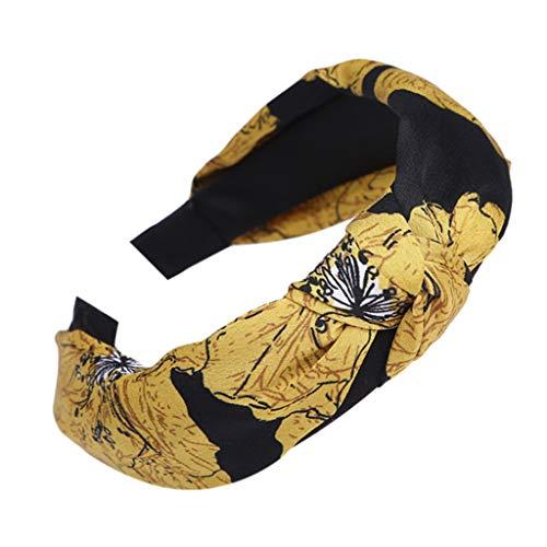 LoveLeiter Damen Stirnband Stoff Kopfschmuck Breitkrempigen Stirnbänder Haarband Haarnadel Hairband Tuch Frauen Haar Zusätze Kopf Warp - Twist Tanz Kostüm