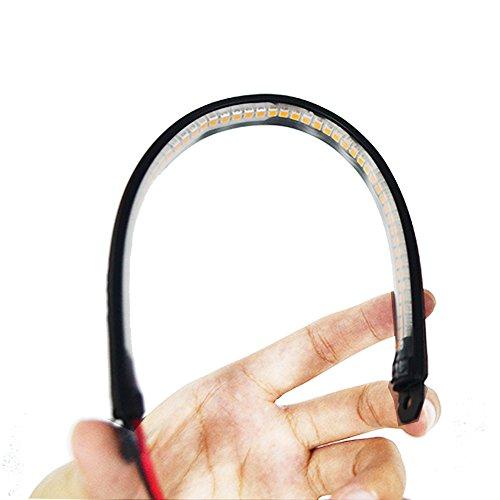 Universal Flexible LED Blinker Rücklicht Bremse Kennzeichenbeleuchtung LED Flexible Scan-Streifen Licht und Lauf-Rücklicht für Motorrad Fahrrad ATV Auto Wohnmobil SUV (Led-scan-licht)