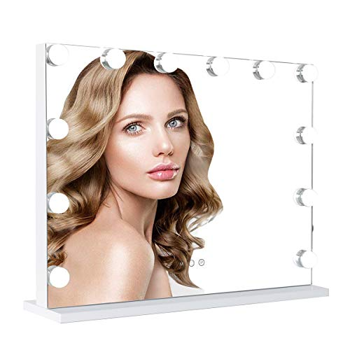 ICREAT Hollywood Schminkspiegel, Super helle kosmetische Spiegel mit intelligenten Noten-justierbaren