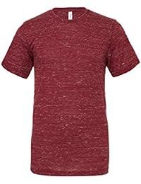 "Unisexe poly-coton t-shirt manche courte (BE119) - Marron Marbre, Medium / 38""-41"""