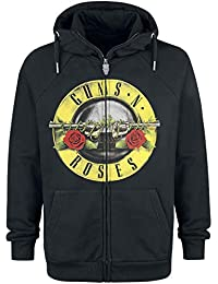 Zippé Sweat Guns Logo Shirt Noir Roses Capuche À N' nXxxSUPa