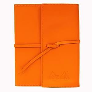 Rhodia - Agendas, carnets - Journal ePure Rhodia, Cuir Orange, 13x16,5, 240 pages