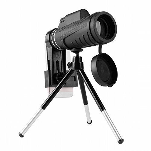 WYJ Monokulares Teleskop Hochleistungs HD im Freien Nachtsicht Kann Handy-Videokamera-Teleskop Sein,Schwarz