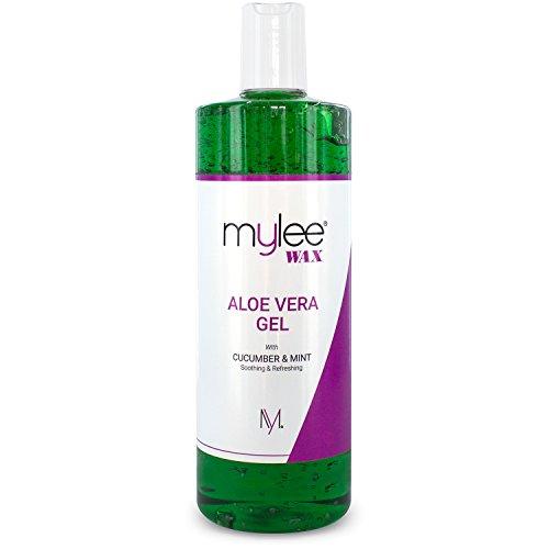 Gel adoucissant à l'aloe vera pur Mylee – After care – Épilation – Cire dépilatoire – Traitement pour la peau – Après-soleil - 500 ml