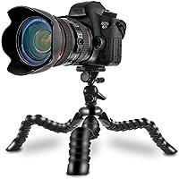 """Coolway® 11.5"""" Zoll Pipi Große Reise-Stativ für DSLR-Kamera Super Flexible Gelenke Schnellspannclip mit Sicherungsring Ebene - Schwarz"""