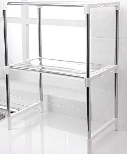 Estante estante horno microondas almacenamiento acero