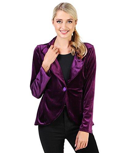 KRISP-Damen-Fashion-Blazer-Samt-Jacke