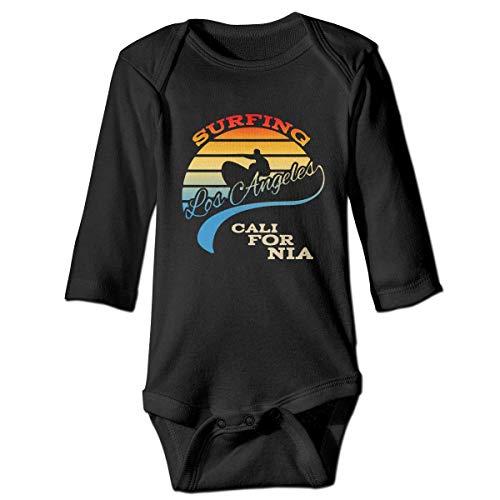 WBinHua Bodysuits Baby Body, California Surf Surfing Beach Sunset Baby Infant Long Sleeve Onesies Bodysuits Baby Infant Bodysuit