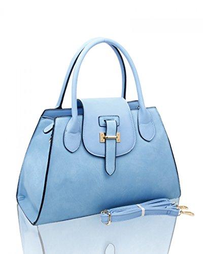 LeahWard® Große Größe Damen Mode Tragetaschen nett Schultertaschen Handtaschen Zum DamenHandtasche A4 CW160112 Weiß/Schwarz (38x16x26cm)