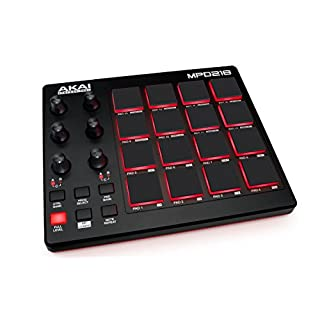 AKAI Professional MPD218   Ultra-Portable USB MIDI Controller with 16 MPC Pads, Knobs and Software Package