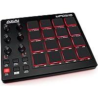 AKAI MPD 218 Professional  - Controlador MIDI USB portátil con 16 pads MPC y potenciómetros para DAW, software Ableton Live Lite, Big Bang Cinematic Percussion y Universal Drums