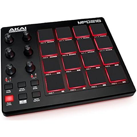 Akai Pro MPD 218 - Controlador USB MIDI ultra-portátil con 16 pads MPC + Software Ableton Live Lite, MPC Essentials, Big Bang Cinematic Percussion y Big Bang Universal