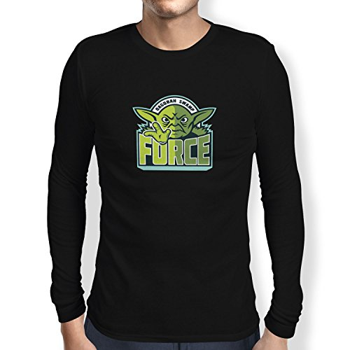 TEXLAB - Dagobah Swamp Force - Herren Langarm T-Shirt Schwarz