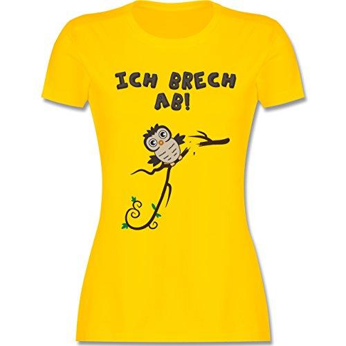 Eulen, Füchse & Co. - Eule bricht ab Eulchen - tailliertes Premium T-Shirt mit Rundhalsausschnitt für Damen Gelb