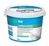 Knauf 4006379067695 Sperrgrund, Spezialgrundierung, hochwirksame Fleckensperre gegen Verfärbungen aus dem Untergrund, gebrauchsfertig Weiß 5 kg