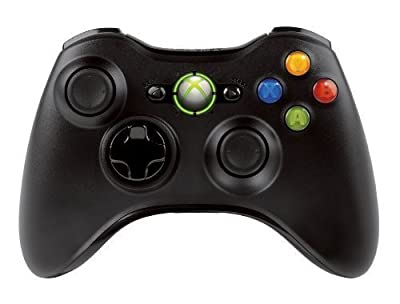 Official Xbox 360 Wireless Controller - Bulk Packaging - Black (OEM) from Microsoft Software