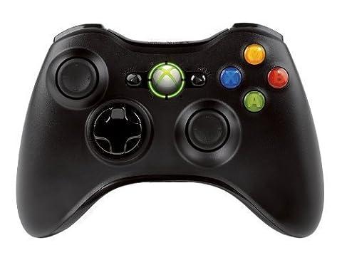 Manette sans fil pour Xbox 360 - noire (OEM)