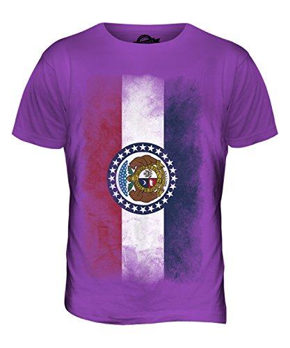 CandyMix Bundesstaat Missouri Verblichen Flagge Herren T Shirt Violett