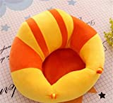 #9: MOM'S GADGETS Premium Quality Soft Plush Chair/seat for Baby Safety Sitting/Soft Soft Plush Chair for Kids Birthday (Yellow & Orange)