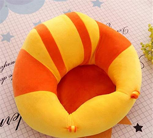 MOM'S GADGETS Premium Quality Soft Plush Chair/seat for Baby Safety Sitting/Soft Soft Plush Chair for Kids Birthday (Yellow & Orange)