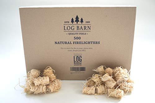 500 encendedores de leña ecológicos naturales - iniciadores de fuego por caja....