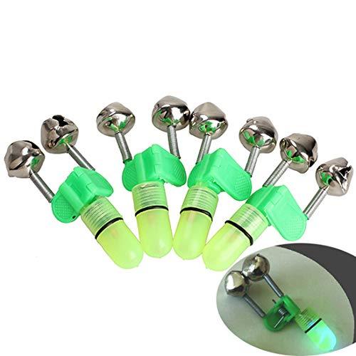 LED Licht Angeln Elektronische Bissanzeiger Fisch Sensor Glocken Rod TIPP Shake Angelgerät Zubehör (Elektronische Sensoren)