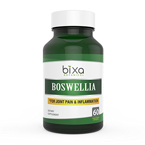 Shallaki Extract Capsules | Boswellia Serrata Extract (65% Boswellic acid) 60 Veg capsules (450mg) | Anti-Inflammation & Anti-Arthritic | Natural Skin Tonic ǀ Swollen Lymph Nodes & Joint Pain Reliever | Bixa Botanical