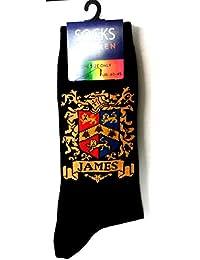 Heraldic Family Crest Cotton Socks for Men JAMES (UK: 6-11 / EUR: 40-45)
