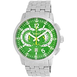 Roberto Bianci Gents 'Pro Racing' Stainless Steel Chronograph Watch with Green Dial