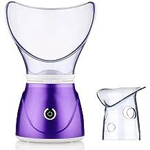 YUNI Sauna facial inhalador de vapor vapor facial, Dare color de limpieza profunda de los poros limpiador de niebla caliente hidratación facial poros vapor limpieza facial cuidado de la piel multifuncional