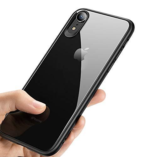iPhone XR Handyhülle , synmixx Crystal Schutzhülle iPhone XR Silikon Hülle Ultra Dünn Stoßfest Anti-Scratch TPU Bumper Case für iPhone XR Case Cover - Jet Schwarz