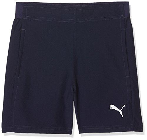 PUMA Kinder Liga Sideline Woven Shorts Jr Hose, Peacoat White, 152