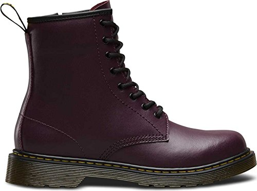 Dr Martens Delaney Y Purple Leather Youth Ankle Boots purple