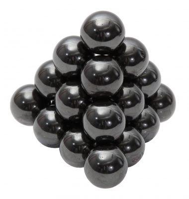 TimeTEX Magnetische Kugeln - ca. 275 g - schwarz - metallic - ca. 20 mm im Durchmesser - ca. 14 Stück - 93277