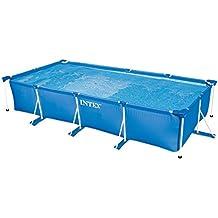 Intex 28274FR Kit De Piscinette Tubulaire Armature En Métal Bleu 4,5 X 2,