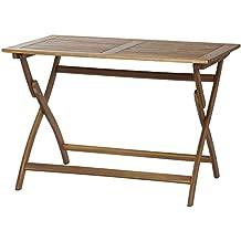 Siena garden 316953 - Mesa plegable de acacia fsc 100 por ciento, 110 x 70 cm, marrón engrasado