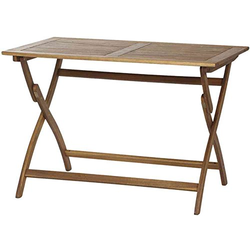 Siena garden 316953 - Mesa plegable de acacia fsc 100 por ciento, 110 x 70 cm