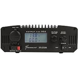 SPS 2530D SADELTA Fuente Alimentación Conmutada 25 amp con Display, voltaje regulable 9 a 15 voltios.