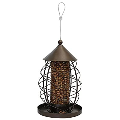 Rosewood Antique Lantern Style Nut Bird Feeder